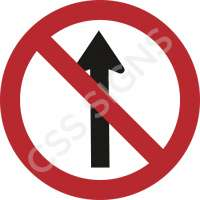No Straight Ahead Safety Sign