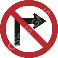 No Right Turn Safety Sign