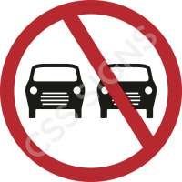 No Overtaking Safety Sign