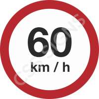 60kmh Safety Sign