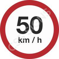 50kmh Safety Sign