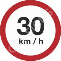 30kmh Safety Sign