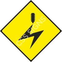 Overhead Cables Safety Sign