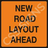 New Road Layout Safety Sign