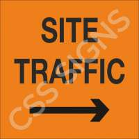 Site Traffic Right Sign