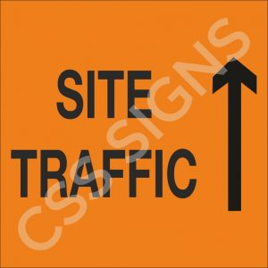 Site Traffic Straight Sign