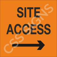 Site Access Right Sign