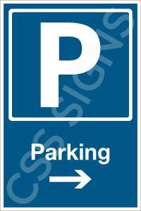 Parking Right Safety Sign