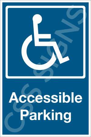 Accessible Parking Safety Sign