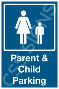 Parent and Child Parking Safety Sign