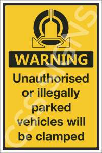 Vehicle Clamping in Operation Safety Sign