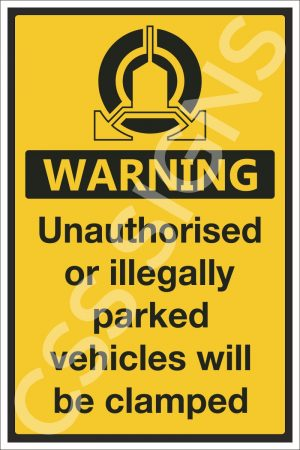 Vehicle Clamping in Operation Sign