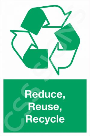 Reduce, Reuse, Recycle Sign