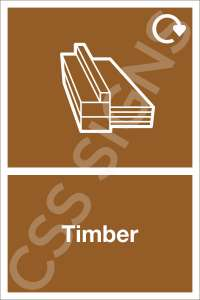 Timber Waste Sign