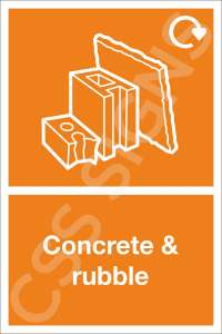 Concrete & Rubble Waste Safety Sign
