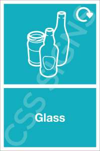 Glass Waste Safety Sign