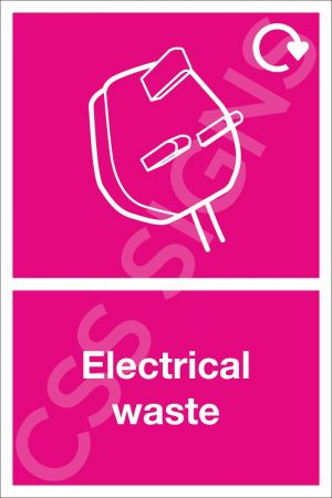 Electrical Waste Sign