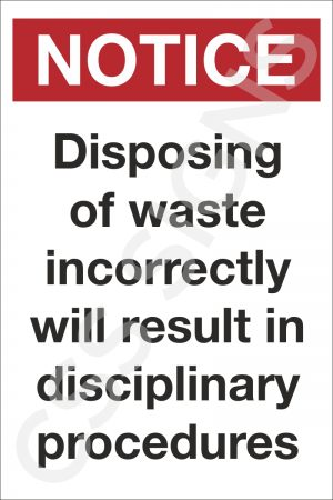 Waste Disposal Notice Sign