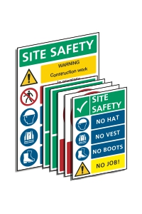 pack of construction site safety signs