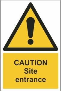 CON002a - Caution, Site entrance