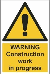 CON008 - Warning, Construction work in progress