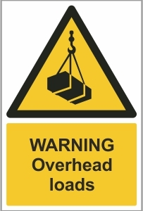 CON012 - Warning, Overhead loads