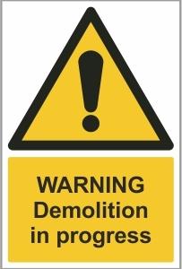 CON014 - Warning, Demolition in progress