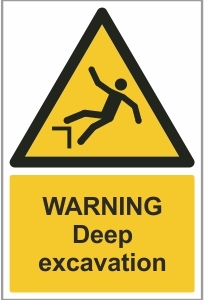CON016 - Warning, Deep excavation