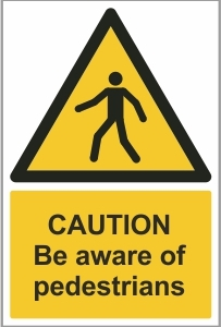 CON017 - Caution, Be aware of pedestrians