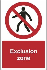 CON020 - Exclusion zone