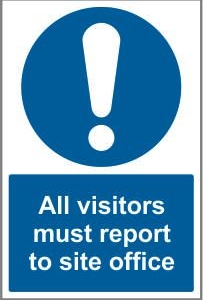 CON034 - All visitors must report to site office