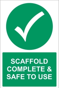 CON042 - Scaffold complete & safe to use
