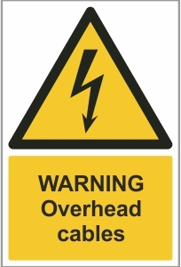 CON009 - Warning, Overhead cables