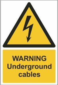 CON010 - Warning, Underground cables