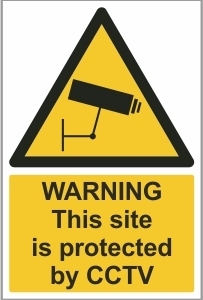 CON018 - Warning, This site is protected by CCTV