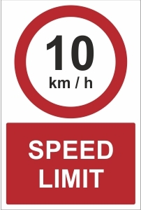 CON025 - Speed limit 10kmh