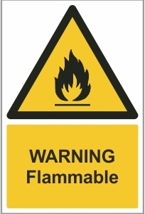 FAC002 - Warning, Flammable