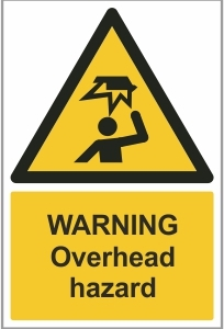 FAC007 - Warning, Overhead hazard
