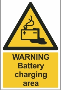 FAC009 - Warning, Battery charging area