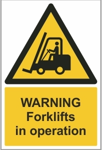 FAC010 - Warning, Forklifts in operation