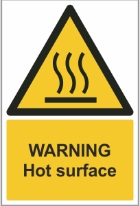 FAC013 - Warning, Hot surface
