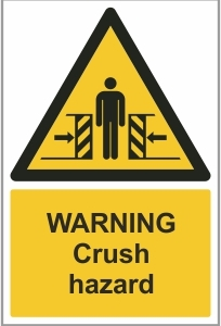FAC014 - Warning, Crush hazard