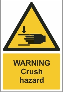 FAC015 - Warning, Crush hazard (hand)
