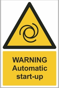 FAC016 - Warning, Automatic start-up