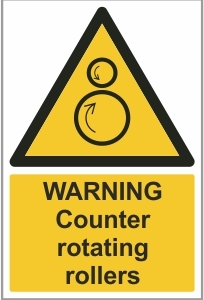 FAC017 - Warning, Counter-rotating rollers