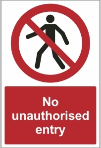 FAC020 - No unauthorised entry