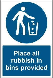 FAC035 - Place all rubbish in bins provided