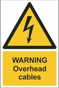 AGR003 - Warning, Overhead cables