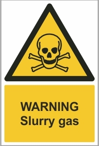 AGR006 - Warning, Slurry gas