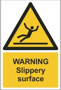 AGR011 - Warning, Slippery surface